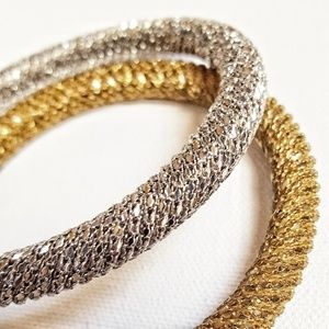 jennifer lopez metallic bangle set